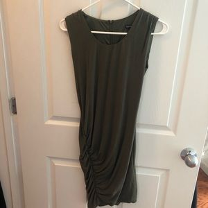 NWOT Express Sleeveless Ruched Front Dress